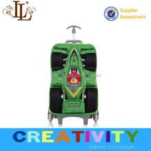 2015 cartoons vivid formula car EVA kids trolley luggage/school bag/travel bag