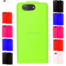 NEW LEATHER PU TOP FLIP WALLET CARD HOLDER CASE COVER FOR Z3 COMPACT