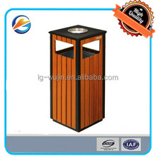 Stainless Steel Wooden Outdoor Dustbin