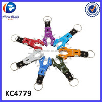 Multi-functional outdoor tiger button aluminum alloy carabiners key ring