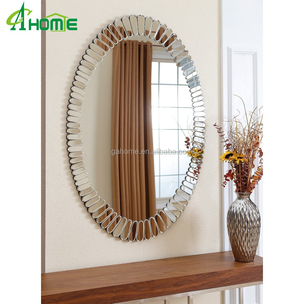 Specail design oval wall mirror for home interior for Decorative home products