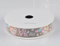 """Newest Cute Style """"LOVE"""" Ptrinted Grosgrain Ribbon For Decoration"""