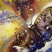 Professional Artist Handmade High Quality Abstract Animal Butterfly Oil Painting On Canvas Modern Butterfly Painting For Decor