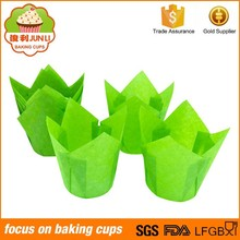 Alibaba China Green Baking Paper Cases Tulip Muffin Cups
