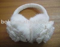 Winter warm lovely flower knitted ear muff
