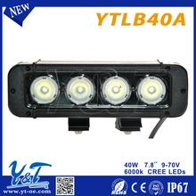 "wholesale price! led bar for 4x4 vehicle Truck ATV Fog one row 40W 7.8"" led work driving bars,offroad led light bar"