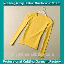 venta al por mayor de ropa para mujer llanura camiseta manga larga para las mujeres
