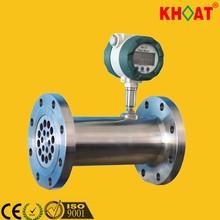 khlwq de turbina de gas del medidor de flujo circular con indicador