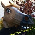 Custom made cosplay party supplies mascarade animaux, tête de cheval en caoutchouc pour le carnaval masque