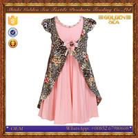 latest design jacquard fabric children girl dress