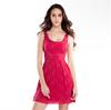 2015 summer new dress ladies lace zipper sleeveless mesh dress