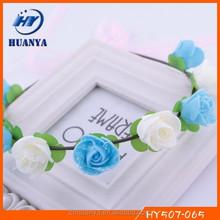 New designs fancy elegant wedding decorative felt artificial rose indian flower garland