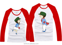 Design long sleeve couple t-shirt in China