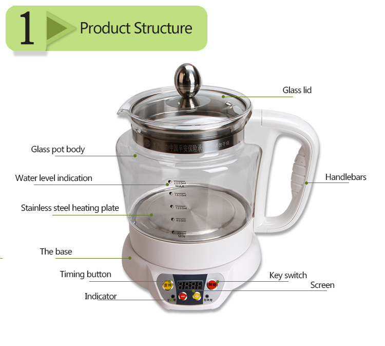 HM-S08 new promotion adjustable temperature portable electric health pot
