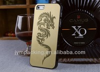 Luxry Laser Engraving Dragon Metal Cell Phone Case For Iphone5