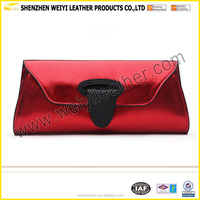 Fashion Leather Clutch Evening Bags Mini Leather Handbags Women Purse Casual Ladies Shoulder Bag With Chains