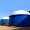 assembled fast install biogas plant to generate electricity and heating boiler