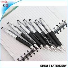 black soft skin grip metal pen