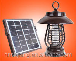 Factory direct supply solar powered mosquito trap with UV light /solar mosquito killer lamp for garden/ lawn decoration