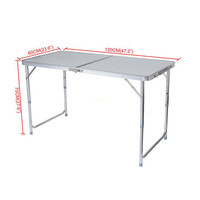 Portable Folding Picnic Camping Set BBQ Party Aluminium Table 4 Foldable Chairs for outdoor