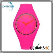 Colorful woman purple unisex Japanese movement high quality watch silicone 2015