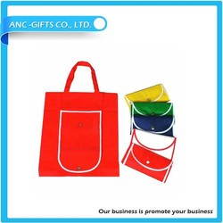 logo printed promotional recycle polyester foldable bag custom shopping bag