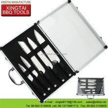 SS 430+TPR coating handle knife and fork bbq set