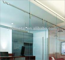 Puerta de cristal,Doble panel opuesto sincrónica puerta corredera de cristal