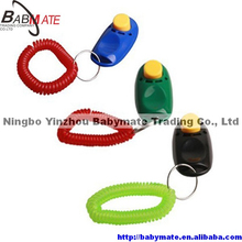 Dog click clicker Dog training with key ring with wrist strap