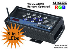 wireless DMX control battery operated led event lighting(black body)