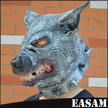 Halloween Horror Animal Masks,Masquerade Party Cosplay Full Head Latex wolf mask