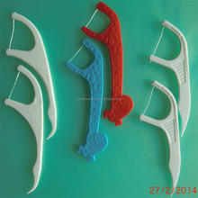 Plastic Dental Floss Pick/Toothpicks, disposable flosspick, but can be reusable over 10day, OEM offered, China factory