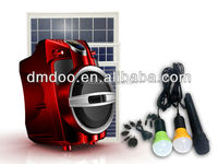 2014 newest solar products bluetooth powered speaker with rechargeable battery and 1kw solar system for home