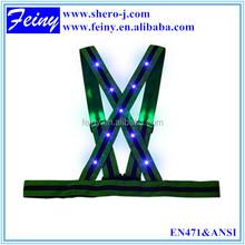 LED elastic safety belt with flashing lights for biker