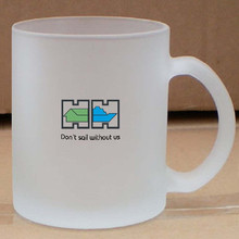 new products 11OZ Coated Frosted Sublimation Glass Mug for promotional advertising