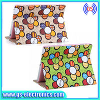 PU leather stand leather case for IPAD Mini Sunflower leather Case