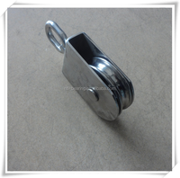 stainless steel Dual track groove pulley used for Cable, drawers, doors and Windows