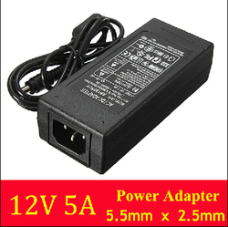 New AC Converter Adapter For DC 12V 5A 60W LED Power Supply Charger for 5050/3528 SMD LED Light or LCD Monitor CCTV