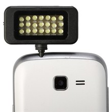 New arrival LED FLASH for camera Phone support for mini selfie sync led flash which built-in21 led lights