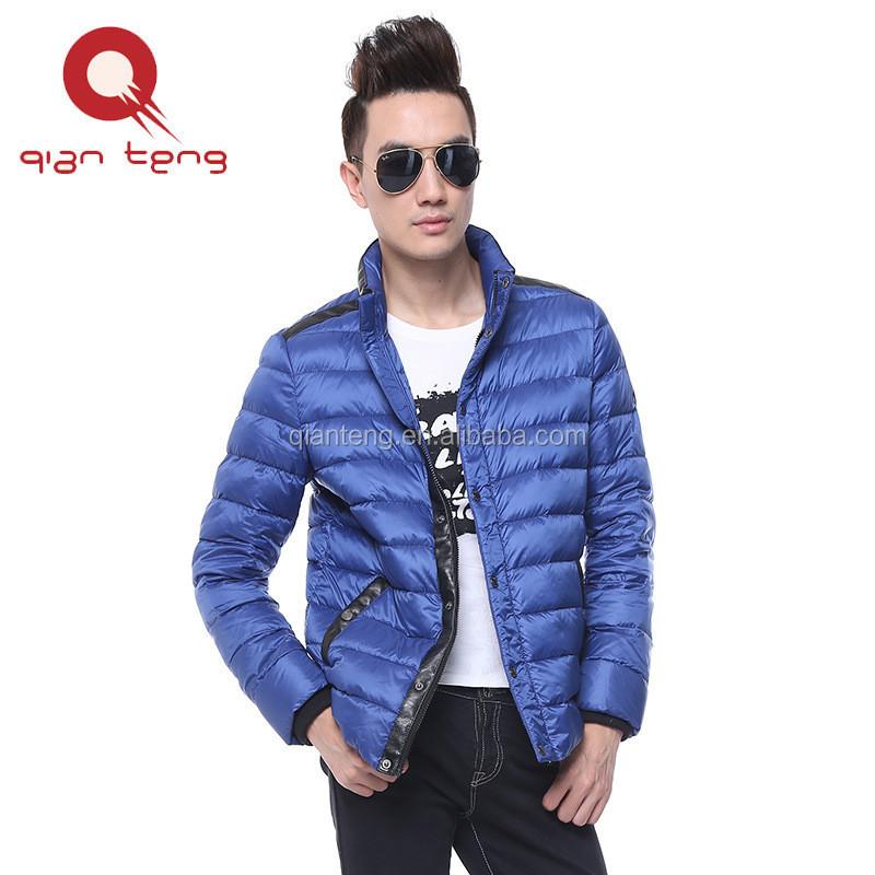 Suzhou brilhante roupas de varejo à prova d' água super leve para baixo jaqueta, dobrável compactáveis jaqueta bomber moda
