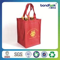 Hot Sell red jute wine tote bag for single bot