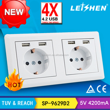 250v Hotel Universal Netherlands micro usb charger in socket for office
