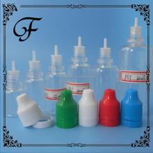 trade assurance 5ml 10ml 15ml 20ml 30ml 50ml PET eliquid E cigarette plastic bottle with long tips childproof cap plastic bottle