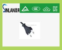 korea electrical plug /Korea power cord with 2 pin plug /Korea cable manufacturer