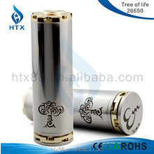 18650 battery gold and sliver wholesale tree of life mod fit with kayfun3.1