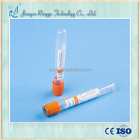 Disposable sterile vacuum blood collection thrombin tube