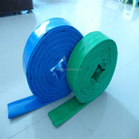 50-100m water discharge pvc lay flat irrigation hose with standard ISO