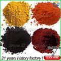échantillon gratuit/bon/prix inférieur pigment d'oxyde de fer jaune pour la route d'asphalte de couleur/peintures,/paillis en caoutchouc