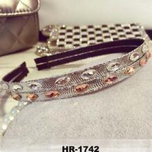 New design exaggerated sense of the future head hoop silver champagne metallic droplets drill collar fashion headband
