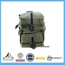 12'' Canvas Laptop Bag Slr Camera Backpack Laptop Backpack Rain Cover